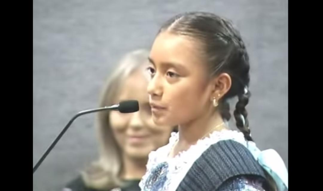 El discurso sobre la cultura de una niña indígena de 11 años
