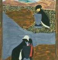 """Jacob Lawrence. Panel 19  &#8211; <a href=""""http://www.phillipscollection.org/collection/migration-series"""" target=""""_blank"""">phillipscollection.org</a>"""