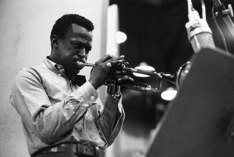Miles Davis grabando en Barcelona
