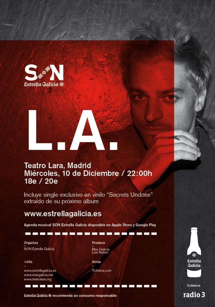Cartel del concierto: L.A en Madrid