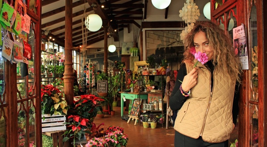 Pilar, dueña del Jardín Del Ángel
