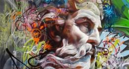 Graffitis de Dioses Griegos por Pichi & Avo