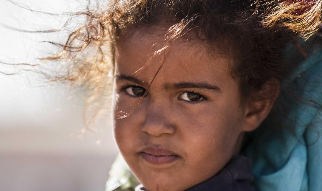 Retratos del campamento de Dajla