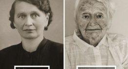 El antes y el después: fotografías a personas centenarias.