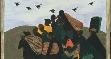 "Jacob Lawrence. Panel 3  – <a href=""http://www.phillipscollection.org/collection/migration-series"" target=""_blank"">phillipscollection.org</a>"