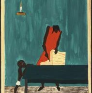 "Jacob Lawrence. Panel 11  – <a href=""http://www.phillipscollection.org/collection/migration-series"" target=""_blank"">phillipscollection.org</a>"