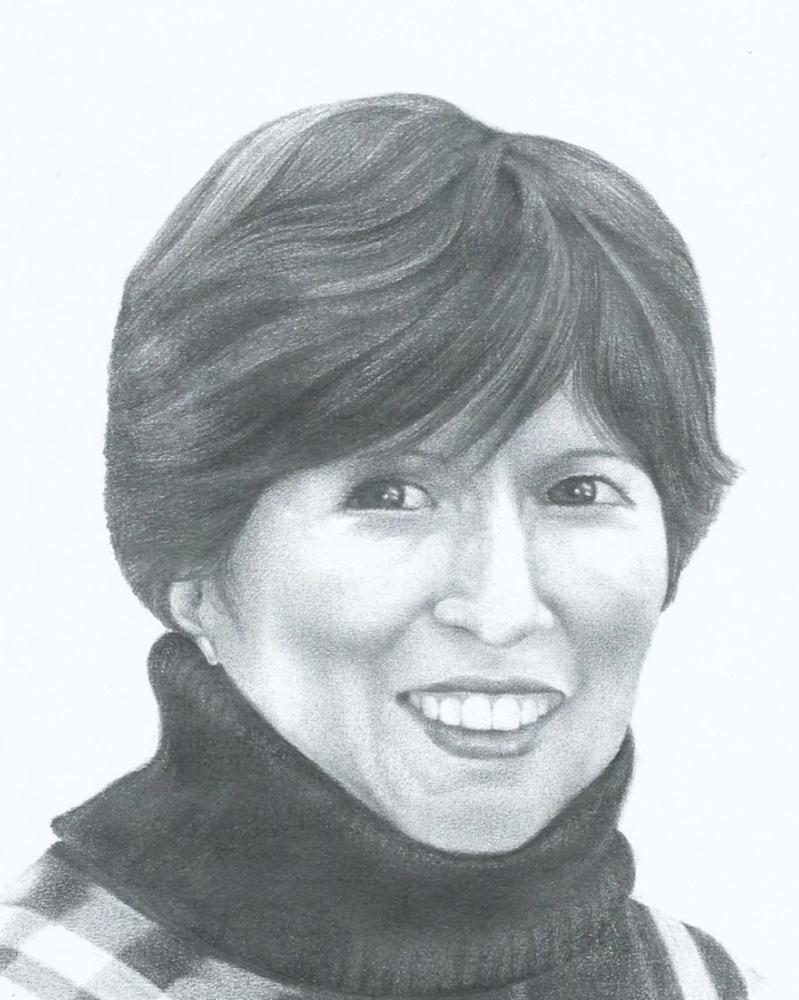 Retrato de mi madre. Lápiz sobre papel.