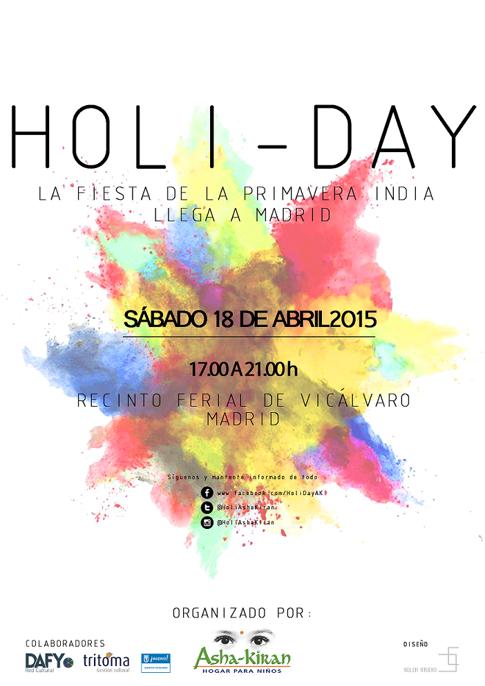Cartel: Holi-Day Madrid 2015