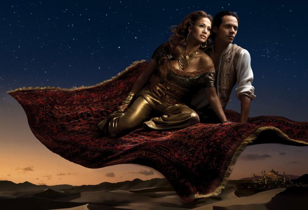 Jennifer Lopez y Marc Anthony son Jasmine y Alladin.