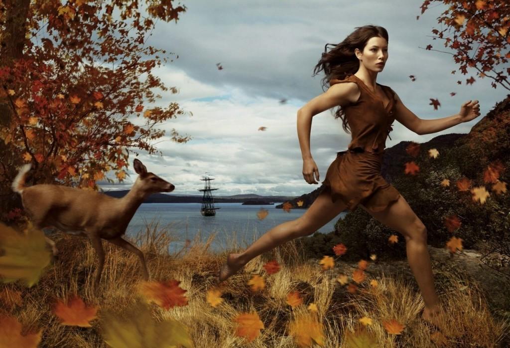 Jessica Biel es Pocahontas.