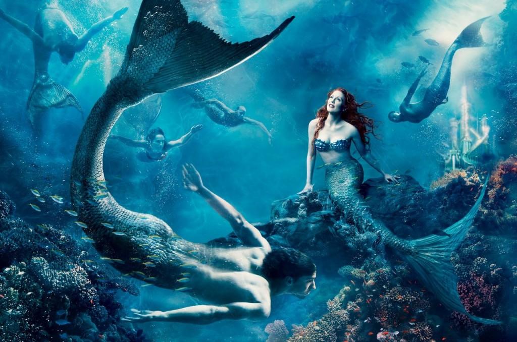 Julianne Moore es Ariel la Sirenita y Michael Phelps es un sireno.