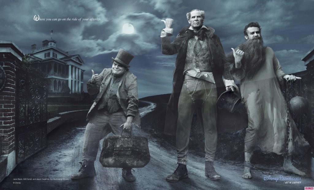 Jack Black, Will Ferrel y Jason Segel son The Hitchhiking Ghosts.