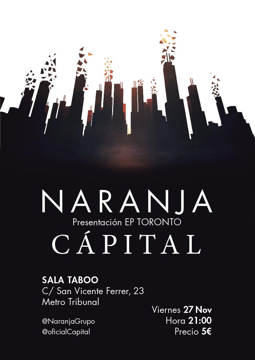 Cartel Naranja + Cápital. Por: Pablo García Robla.