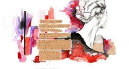 Ilustración de moda por Isósceles Díaz