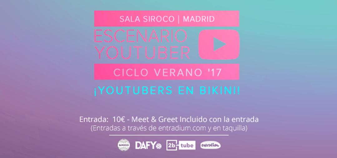 Ciclo Escenario Youtuber en Madrid, con Doble A, Jeiko Blu, Antonio Garci, Carlota Sájara y Anahís Lambea