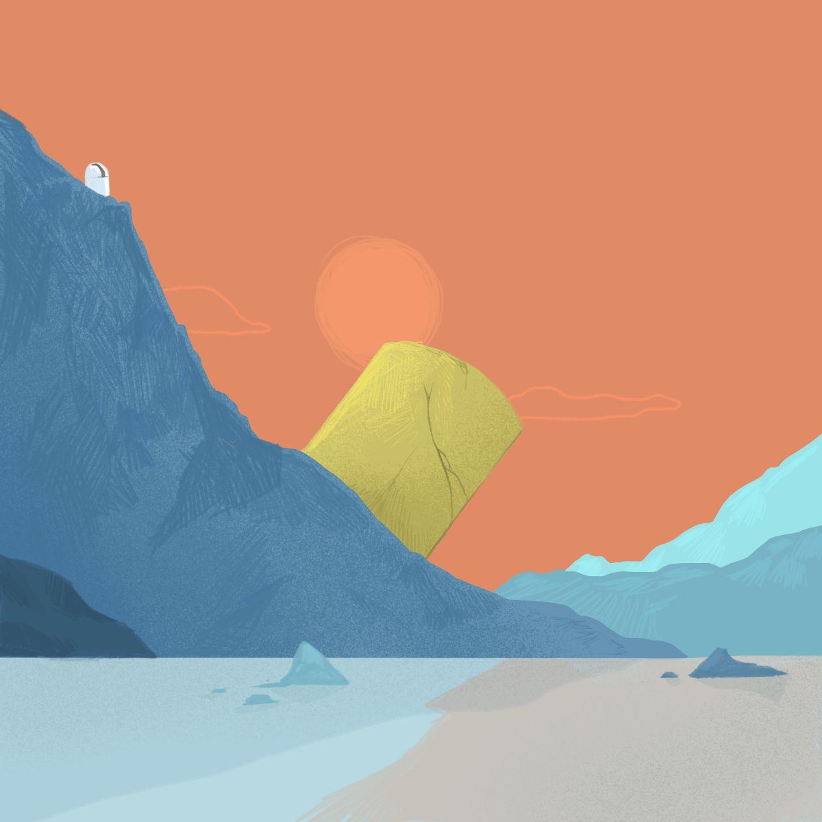 Artwork del primer episodio obra de Abel Fdez, el artista detrás del universo visual de Sungate.
