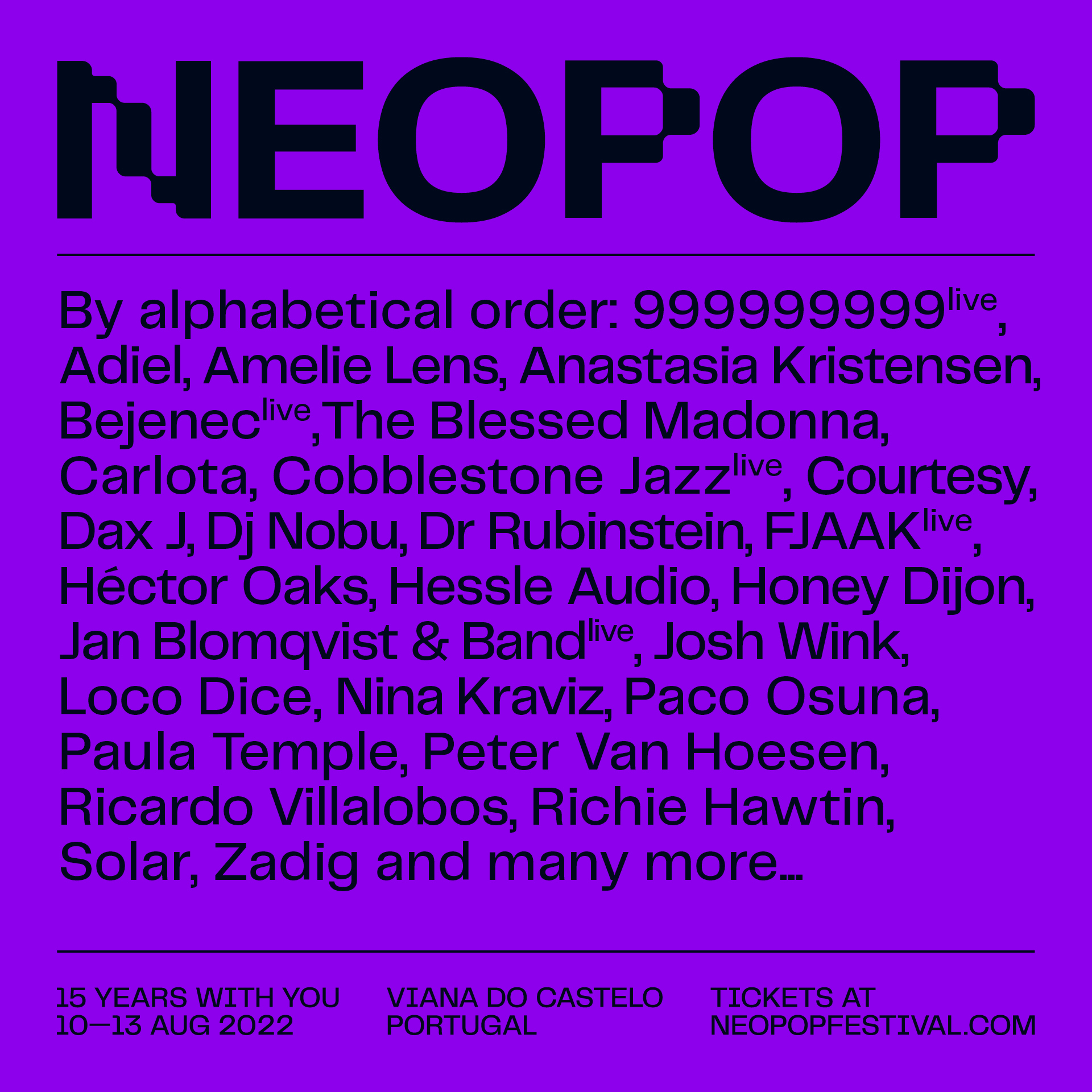 Neopop Festival 15 aniversario.